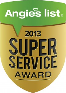2013 Angie's List Super Service Award Winner logo