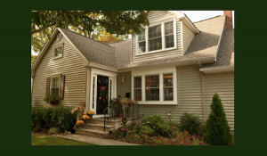 Image of replacement composite siding installed on a home