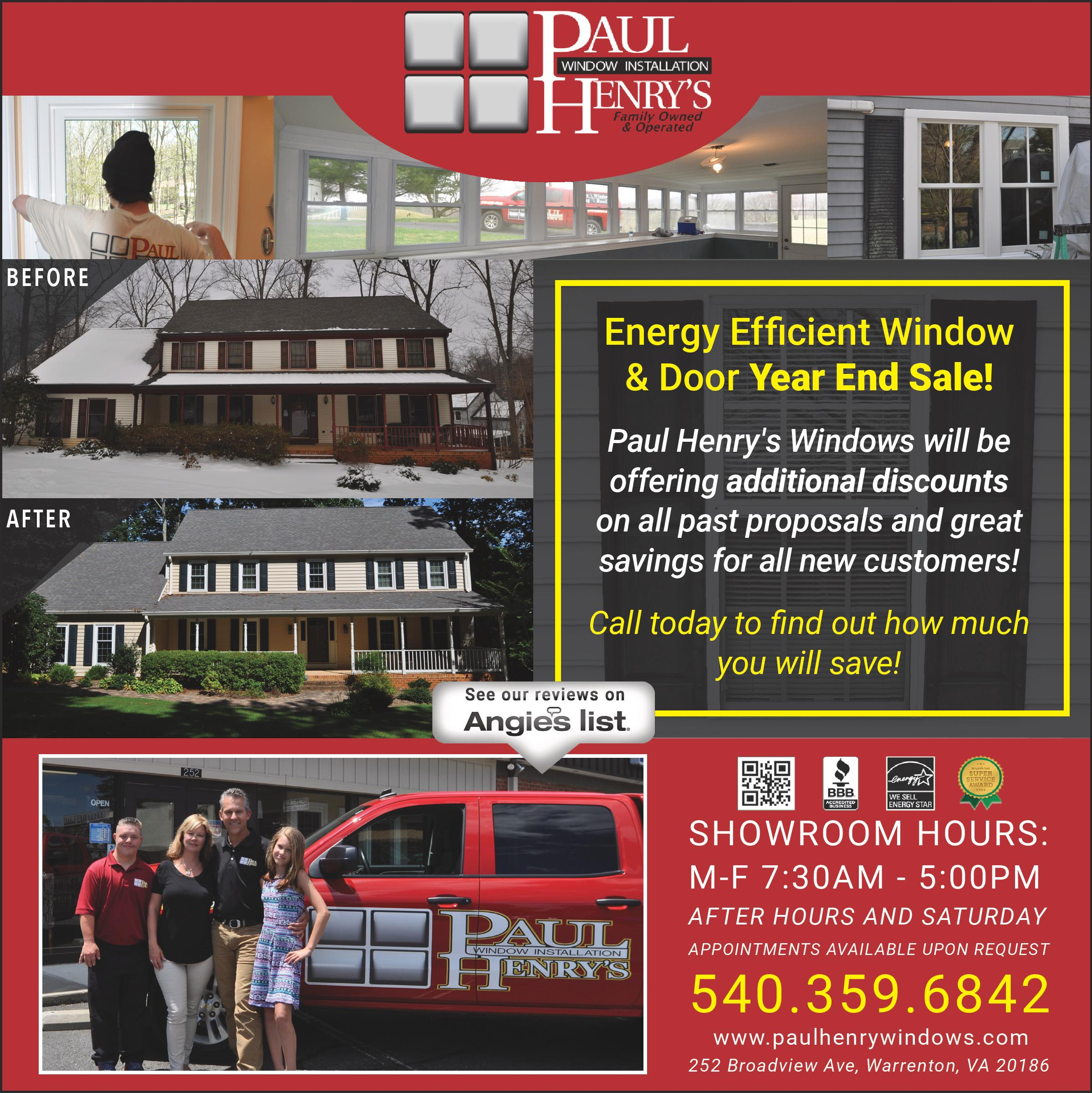 Paul Henry S Window Installation Amp Home Improvement